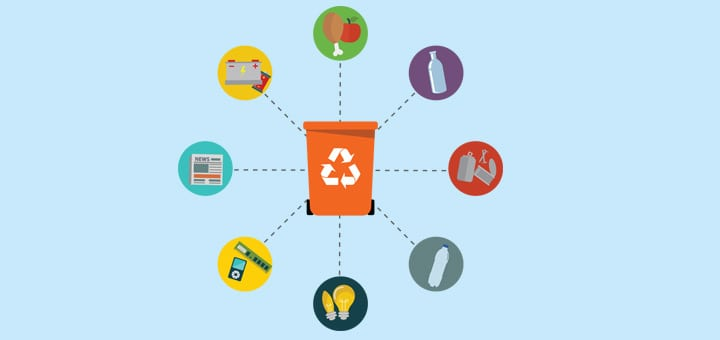 Какие типы мусора можно выбрать для переработки