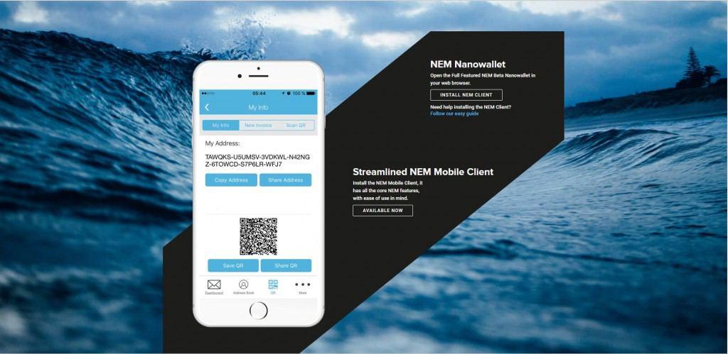 Регистрация кошелька NEM на официальном сайте