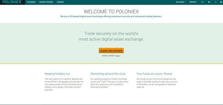 Биржа криптовалют poloniex