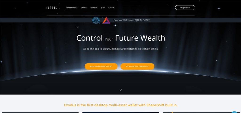 Главная страница официального сайта Qtum