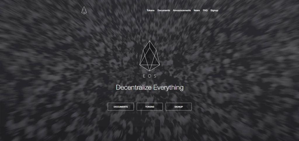 Окно главной страницы официального сайта EOS