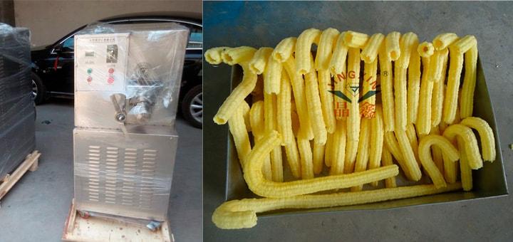 станок по производству кукурузных трубочек