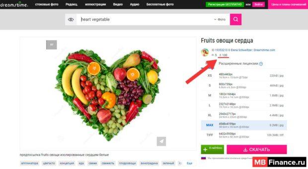 Человеческое сердце из фруктов и овощей