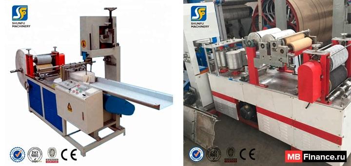 Станки для производства бумажных салфеток
