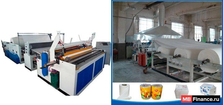 Станок для производства туалетной бумаги