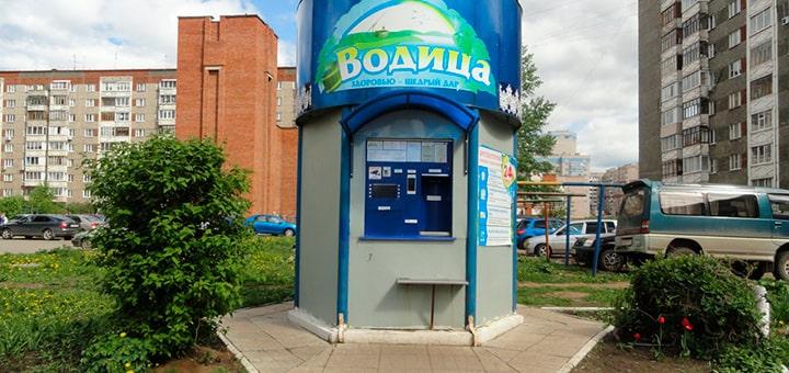 Установка автоматов питьевой воды в дворах домов